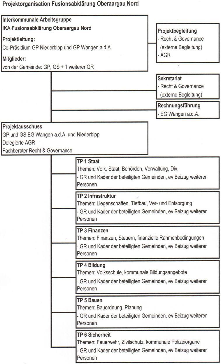 Grafik Projektorganisation